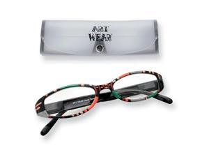 Multi Color 2.25 Magnification Painted Reading Glasses