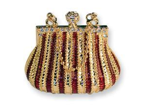 Striped Handbag Trinket Box
