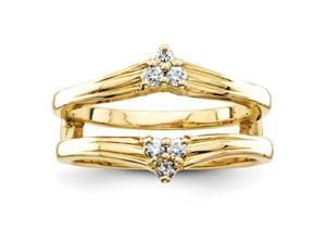 14k Diamond Ring Guard Mounting