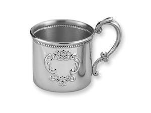 Pewter Raised Design Beaded Baby Cup