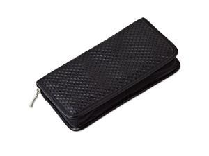 Black Diamond Pattern Patent Polyurethane Jewelry Wallet