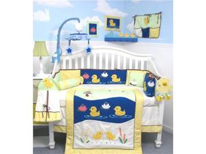 SoHo Quack Quack Ducks Ranch Baby Crib Nursery Bedding Set 14 pcs included Diaper Bag with Changing Pad, Accessory Case & ...