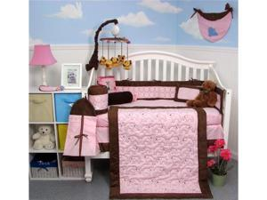 SoHo Designs Suede Elephant Stitch Baby Crib Nursery Bedding Set 14 pcs included Diaper Bag with Changing Pad, Accessory ...