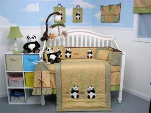 SoHo Designs Giant Panda Bear Baby Crib Nursery Bedding Set 14 pcs included Diaper Bag with Changing Pad, Accessory Case ...