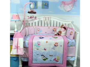 SoHo Designs SoHo Mermaids Baby Crib Nursery Bedding Set 14 pcs included Diaper Bag with Changing Pad, Accessory Case & Bottle ...