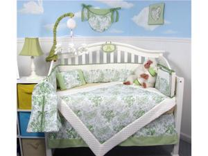 SoHo Designs Sage French Toile Baby Crib Nursery Bedding Set 14 pcs included Diaper Bag with Changing Pad, Accessory Case ...