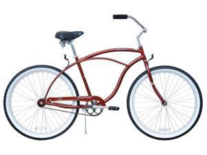 "Firmstrong Urban Man Single Speed,  Brown - Men's 26"" Beach Cruiser Bike"