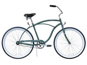 "Firmstrong Urban Man Single Speed,  Army Green - Men's 26"" Beach Cruiser Bike"