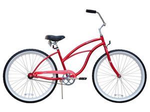 Ladies' Red Beach Cruiser Bicycle