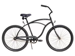 "Firmstrong Urban Shimano Single Speed, Matte Black - Men's 26"" Beach Cruiser Bike"