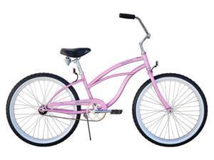 "Firmstrong Urban Lady 24"" Single Speed,  Pink - Women's 24"" Beach Cruiser Bike"