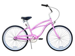 "Firmstrong 24"" Pink - 3 Speed Cruiser Bicycle"
