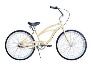 "Firmstrong Urban Lady 24"" 3 Speed,  Vanilla - Women's 24"" Beach Cruiser Bike"