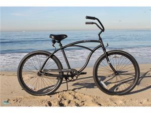 Firmstrong Urban Man - Men's Black Alloy Beach Cruiser Bicycle
