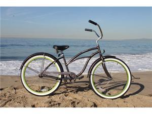 "Firmstrong Urban Boutique Silvareen Single Speed - Womens' 26"" Beach Cruiser Bike"