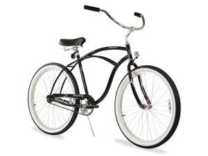 "Firmstrong Urban Man Single Speed, Black - Men's 26"" Beach Cruiser Bike"