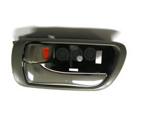 TOYOTA CAMRY 02 - 06 INSIDE INNER INTERIOR DOOR HANDLE LIGHT GREY L 69206AA021B2