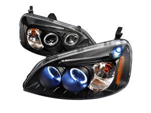 JDM 2001-2003 HONDA CIVIC PROJECTOR HEADLIGHTS 2002 BLK