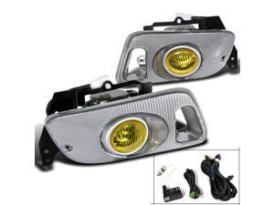 Honda Civic Dx Ex Lx Yellow Oem Style Fog Lights, Switch, Relay