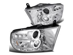 Dodge Ram 2500 Dual Halo Chrome Clear Projector Head Lights