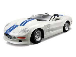 Maisto 1:24 White with Blue Stripes Shelby Series One