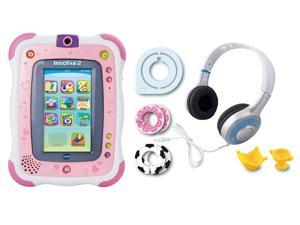 Vtech InnoTab 2 Interactive Learning App Tablet & Headphones Bundle - Pink