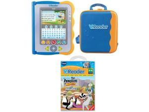 Vtech V.Reader Animated E-Book Reader Bundle - System, Case, Penguins