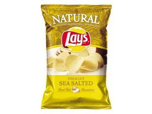 Lays Natural Thick Sea Salt Chips, 8.5oz Bags (6pk)
