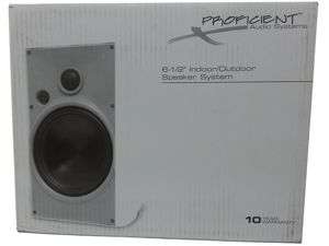 "Proficient Audio Systems AW650 6.5"" Indoor/Outdoor Speakers - Black"
