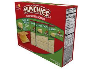 Munchies Jalapeno Cheese on Toast Crackers, 1.38oz Bags (Pack of 96)