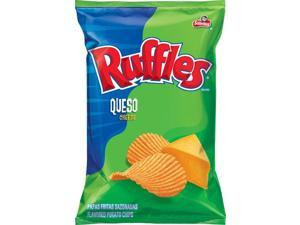 Frito Lay Ruffles Queso Chips, 6.5oz Bags (Pack of 8)