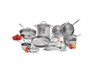 18pc Wolfgang Puck Stainless Steel Cookware