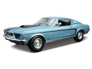 Maisto 1:18 Metal Blue '68 Ford Mustang GT Cobra Jet