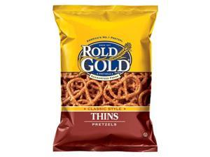 Rold Gold Classic Thins Pretzels, 16 Oz Bags (Pack of 10)