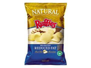 Ruffles Natural Sea Salt Chips, 8oz Bags (Pack of 6)