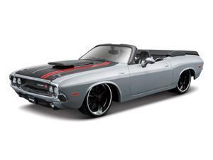 Maisto 1:24 Grey 1970 Dodge Challenger R/T Convertible