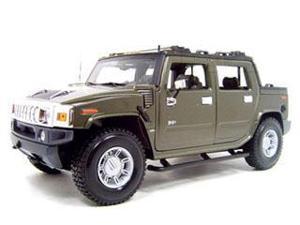 Maisto 1:18 Metallic Green 2001 Hummer H2 Sut Concept