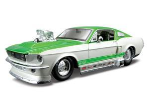 Maisto 1:24 White & Green PS 1967 Ford Mustang GT