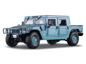 Maisto 1:18 Scale Metallic Light Blue Hummer (Hard Top)