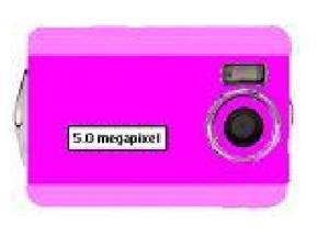 Digital Blue 5 Megapixel Digital Camera - Pink