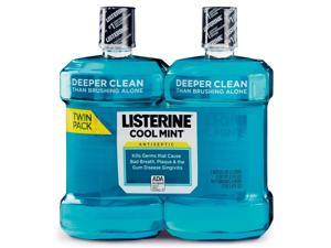 Cool Mint Listerine Antiseptic Mouthwash (2 X 1.5lt)
