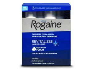 Men's Rogaine Foam-Rogaine Hair Regrowth Treatment, 4/2.11 oz. (4 Month Supply)