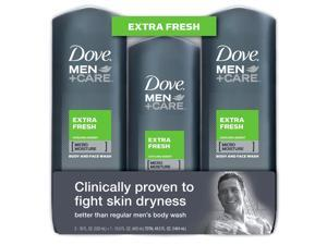 Dove Men Body & Face Wash, Extra Fresh, 2/18oz-1/13.5oz