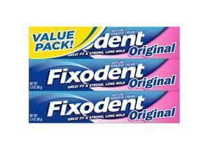 Fixodent 2.4 oz Denture Adhesive Cream, Original 3-Pack