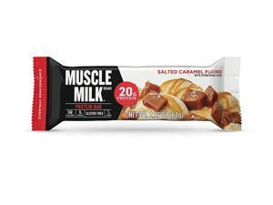 CytoSport Muscle Milk Protein Bar, 20g Protein, Salted Caramel, 12 Bars