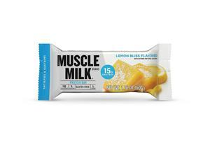 CytoSport Muscle Milk Protein Bar, 15g Protein, Lemon Bliss, 12 Bars