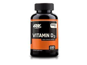 Optimum Nutrition Vitamin D3 5000 IU, 200 Softgels