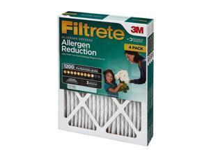 Filtrete Allergen Reduction Filter 4-Pack, 20 x 20 x 1