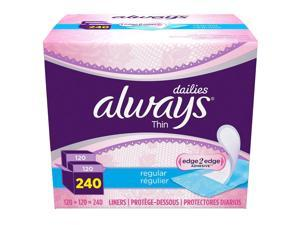 Always Dailies Thin Liners (240 ct.)