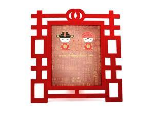 "Red Double Happiness Photo Frame 5""x7"""
